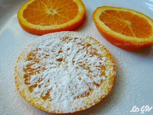 خشک کردن پرتقال با پودر قند