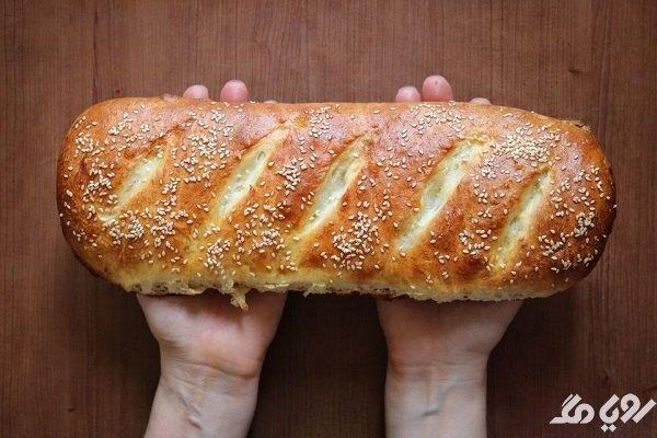 پخت نان خانگی روی گاز