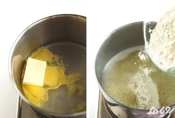 مخلوط آرد و کره برای بامیه