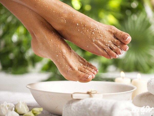 درمان قارچ پا با نمک اپسوم
