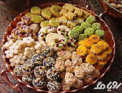 انواع شیرینی خشک عید